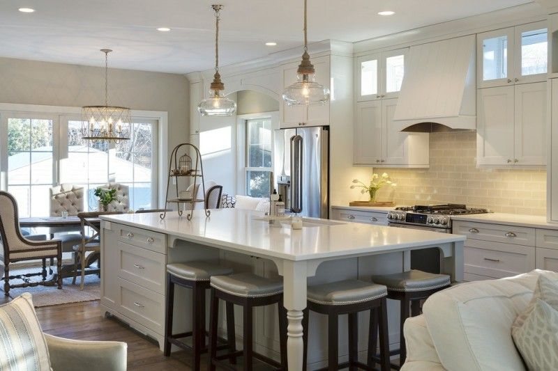 Large Kitchen Islands With Seating And Storage Chairs Cabinets Chandelier Ceiling Lights Table Small Cottage Kitchen Large Kitchen Island Kitchen Decor Modern