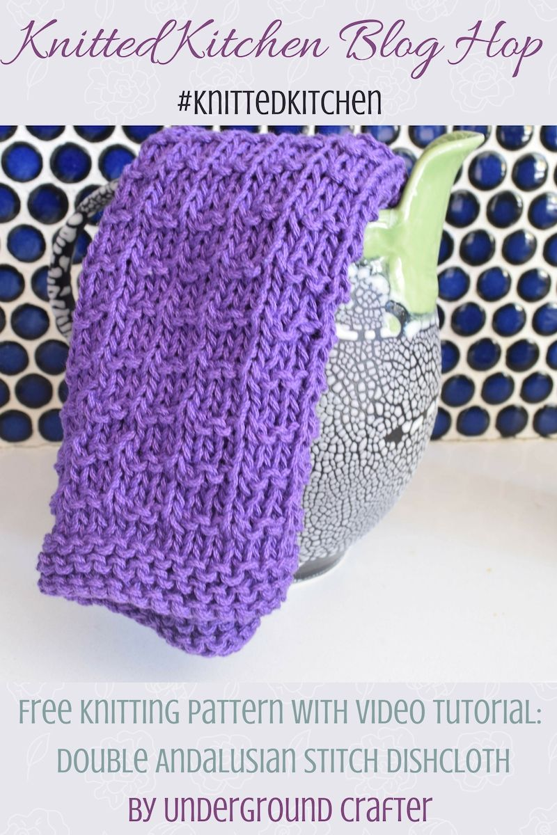 Double Andalusian Stitch Dishcloth | Knitted Kitchen Blog Hop ...