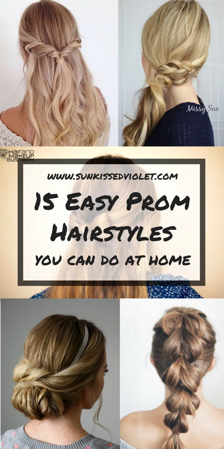 15 Easy Prom Hairstyles For Long Hair You Can Diy At Home Detailed Step By Step Tutorial Sun Kissed Violet In 2020 Hair Styles Prom Hairstyles For Long Hair Prom Hair