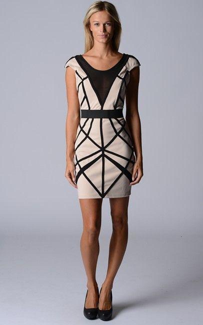 Dress-987785-C-BeigeBlack $75.00 on buyinvite.com.au
