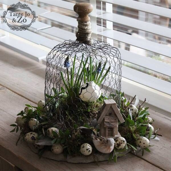 Stolp van gaas bloemen en planten pinterest pasen voorjaar en kerst ramen - Deco entreehal ...