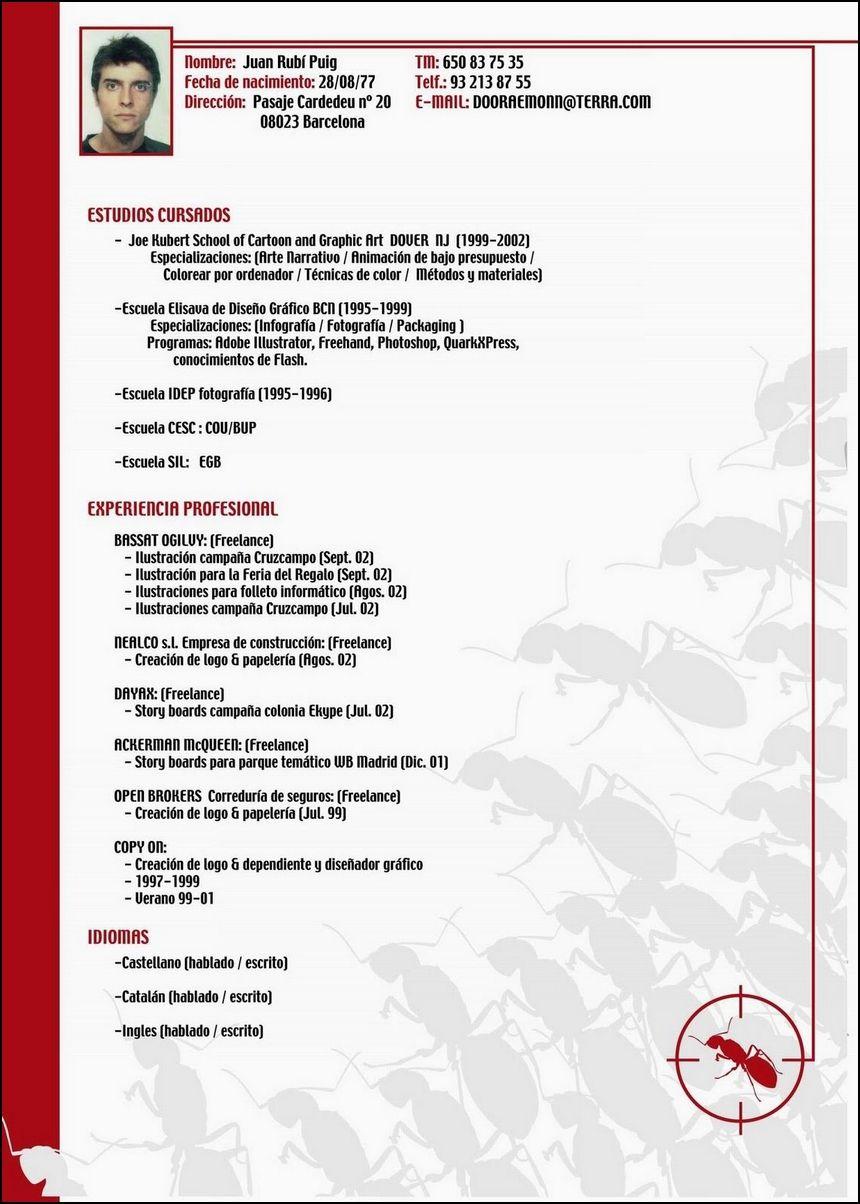 Modelo De Curriculum Vitae Sofy Pinterest Curriculum Y Rosario