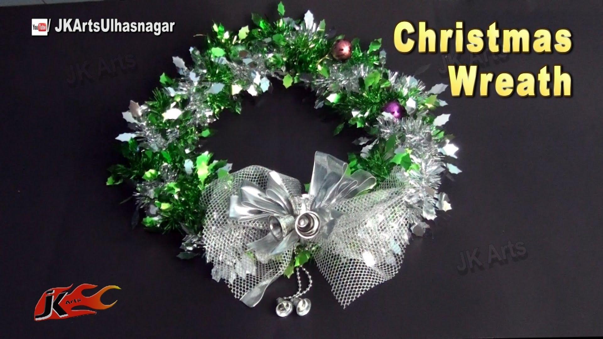 DIY Christmas Wreath with Tinsel Garland Holiday wreaths