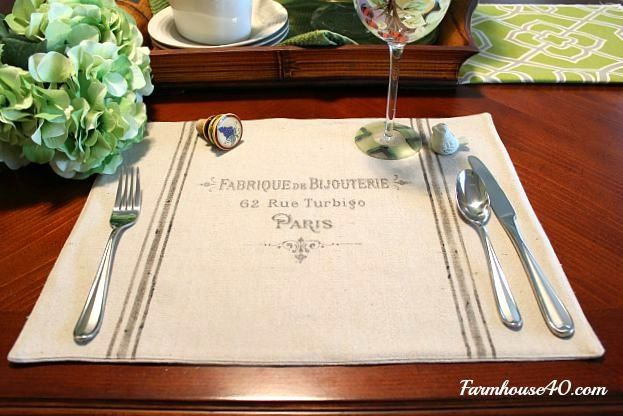 How To Make French Placemats Drop Cloth Drop Cloth Projects Diy Placemats