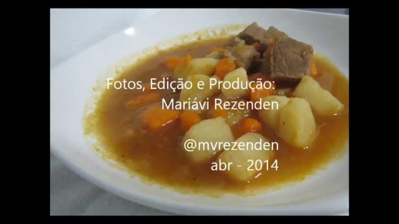Sopa Básica de Carne com Legumes