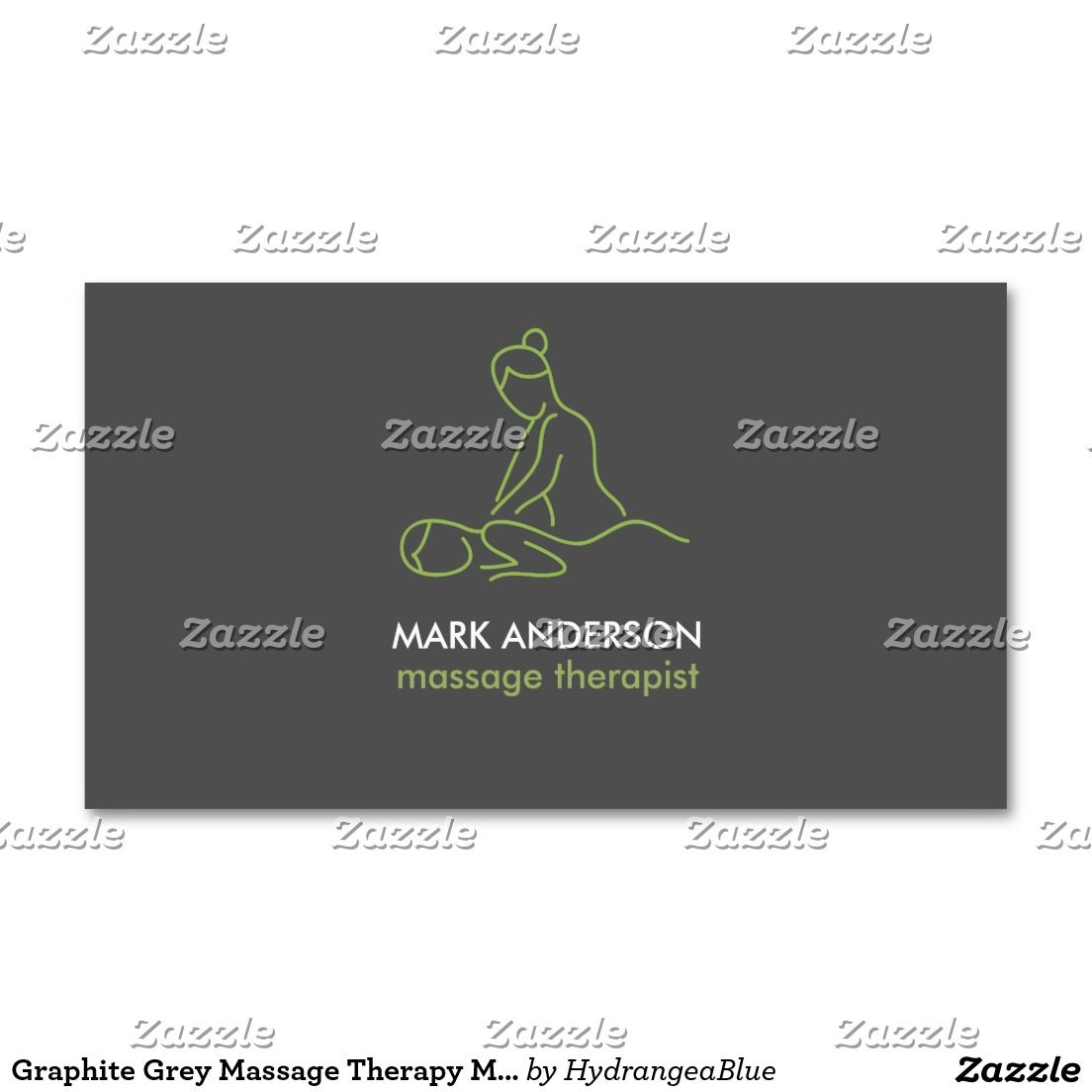 Graphite Grey Massage Therapy Masseuse Spa Business Card | Pinterest ...