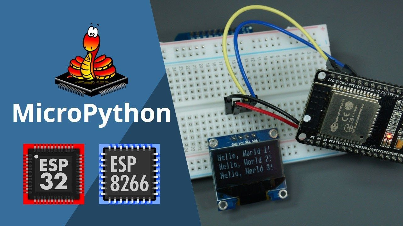 oled display esp8266 esp32 micropython | ESP32 in 2019
