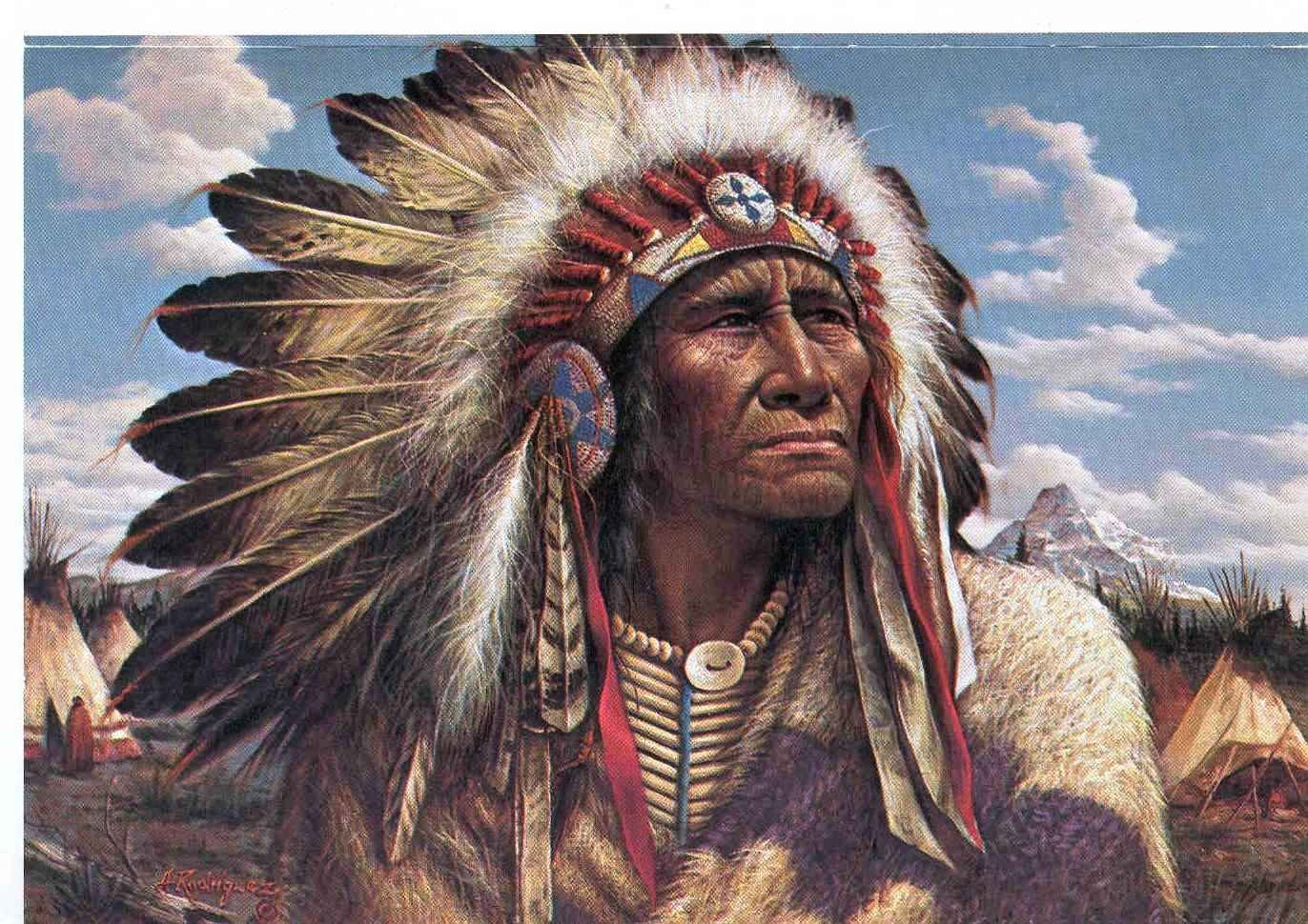 chief strong wind blue chief clouds indian native nature