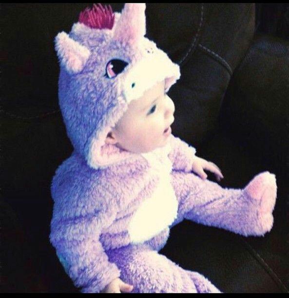 Babies Unicorn Soft Fleece Onezee ~ Newborn to 12 Months