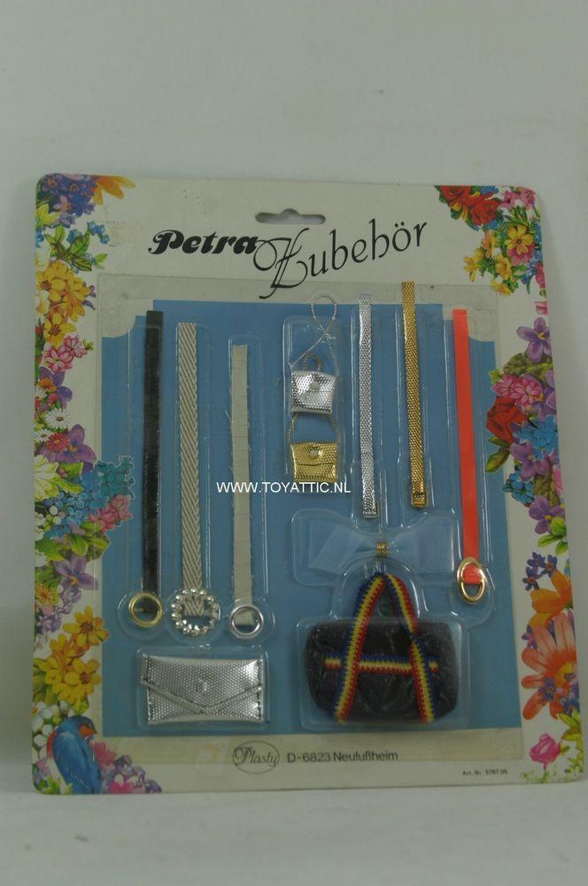 Barbie sized Petra fashion belt accessories set by plasty NRFB white background