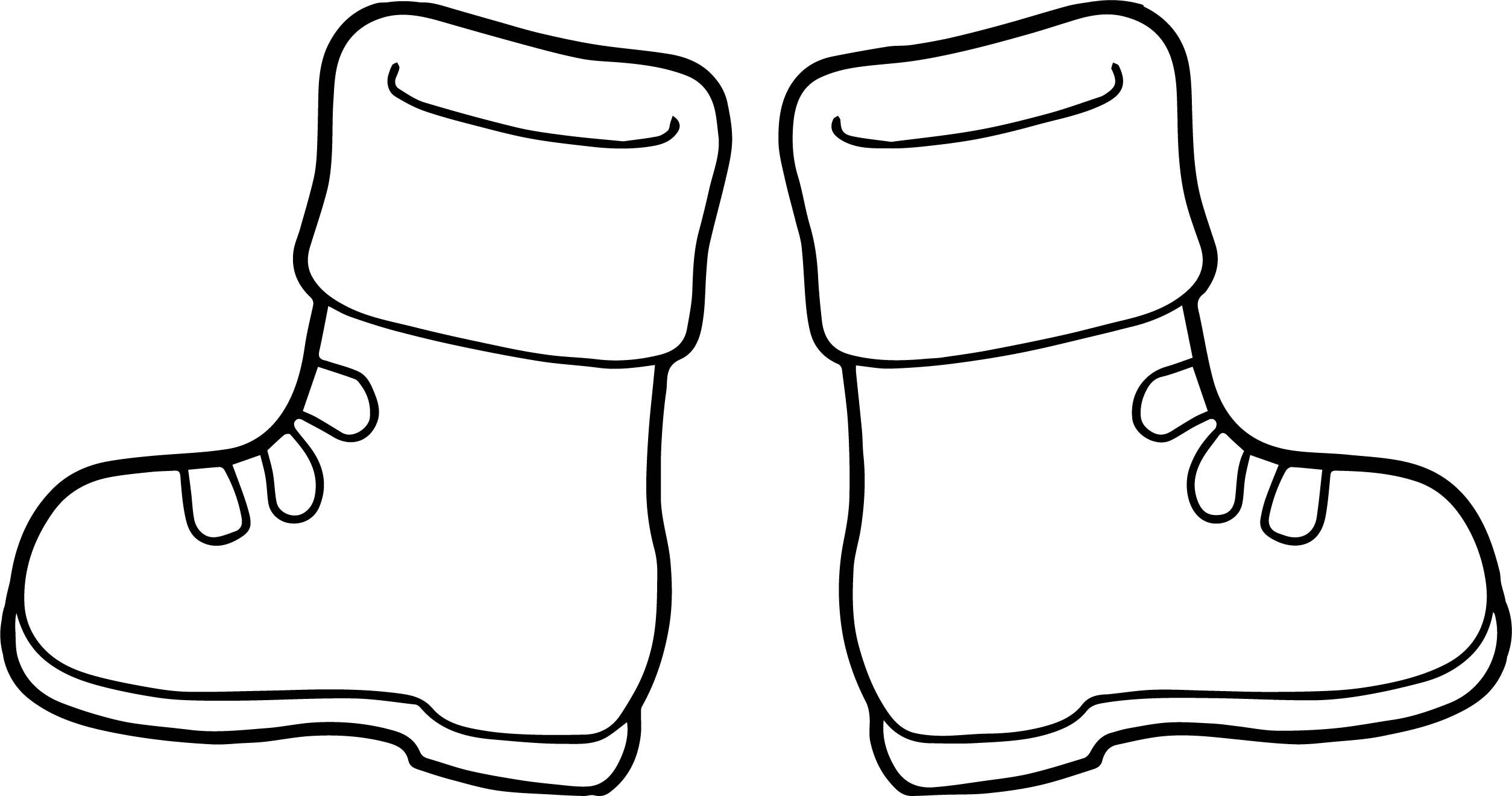 Nice Winter Boots Coloring Page