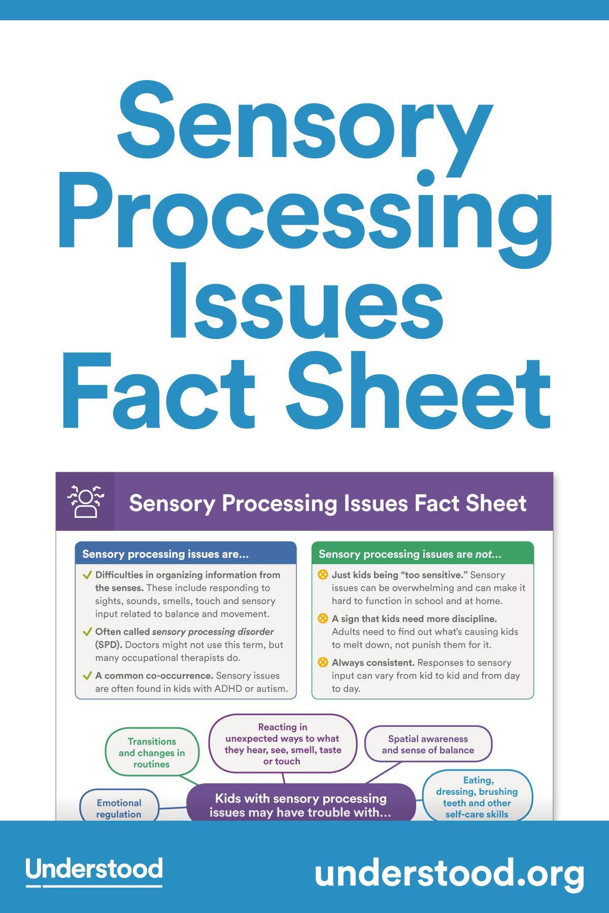 Sensory Processing Issues Fact Sheet