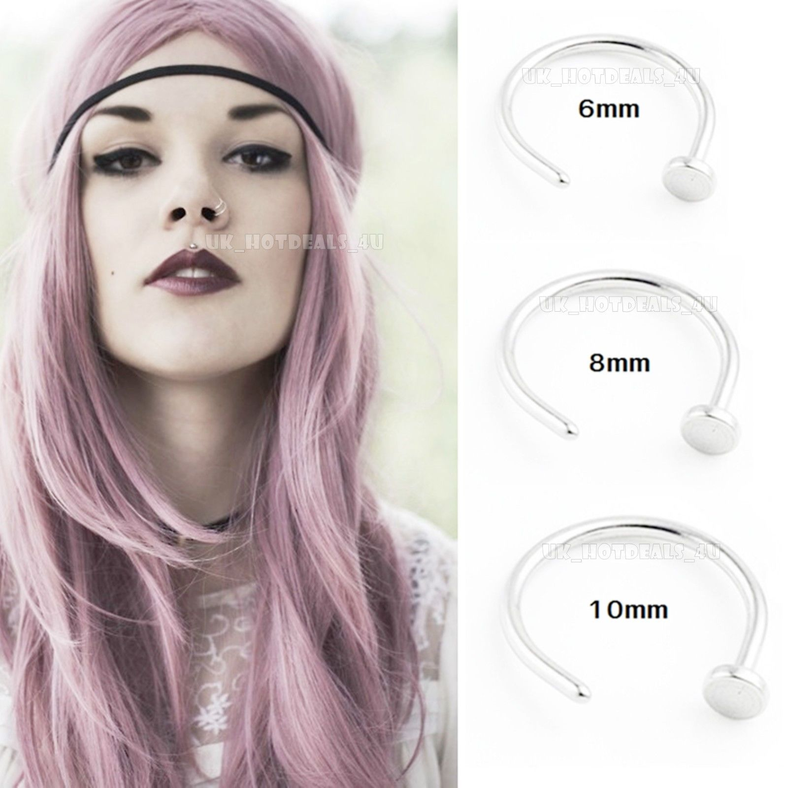 Nose piercing 6mm  UkHotdealsu Body Piercing Jewelry ebay Fashion