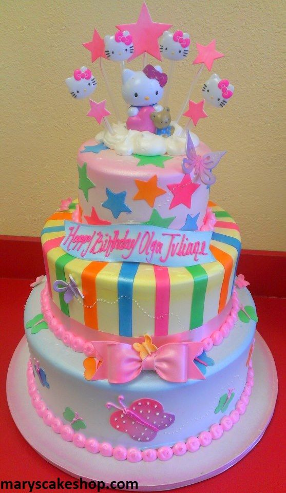hello kitty birthday cake 3 tier hellokitty cake cakes hello kitty 4780