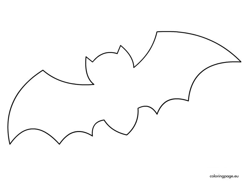spooky bat coloring pages - photo#45