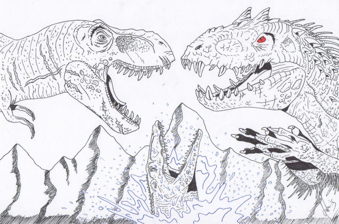 Encantador Dibujos Para Colorear Dinosaurios T Rex Foto - Ideas ...