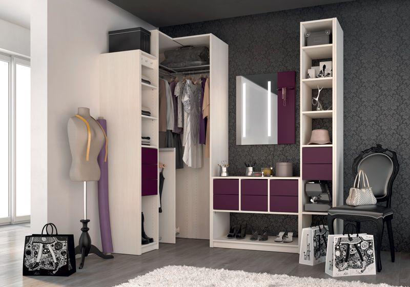 Dressing \ Porte Placard SOGAL  modèle de Dressings \ aménagements - amenagement placard d angle cuisine