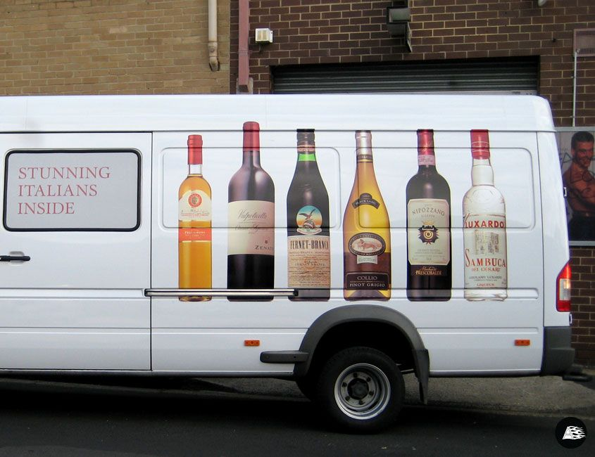 Wine Bottle, Product Graphic, Arquilla Wines, Delivery Van