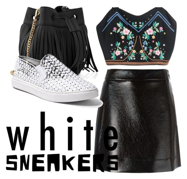 """B+W"" by lillianhuang ❤ liked on Polyvore featuring Whistles, MICHAEL Michael Kors and Steve Madden"
