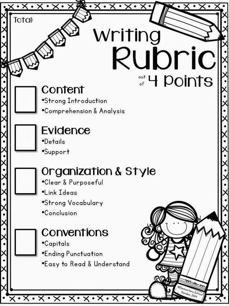 Free 4 Point Expository Writing Rubric That Mirrors That Of