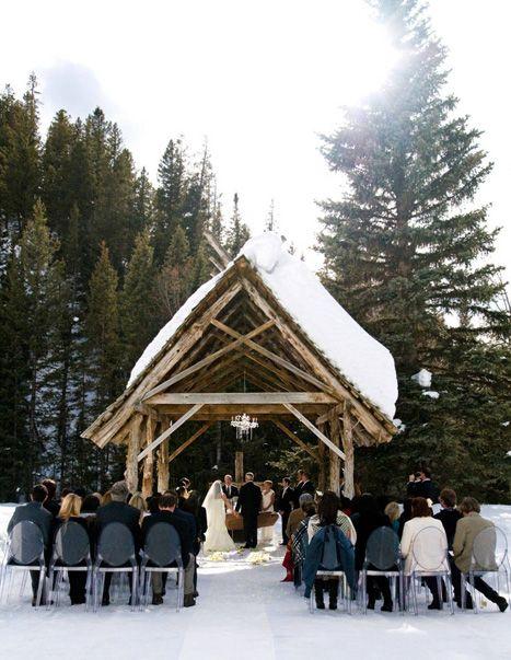 10 Winter Destination Wedding Venues   Log cabin wedding ...