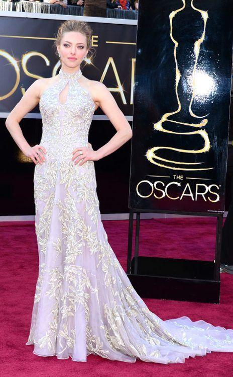 Best Supporting Actress nominee Amanda Seyfried in Alexander McQueen. #Oscars. #RepinToWin