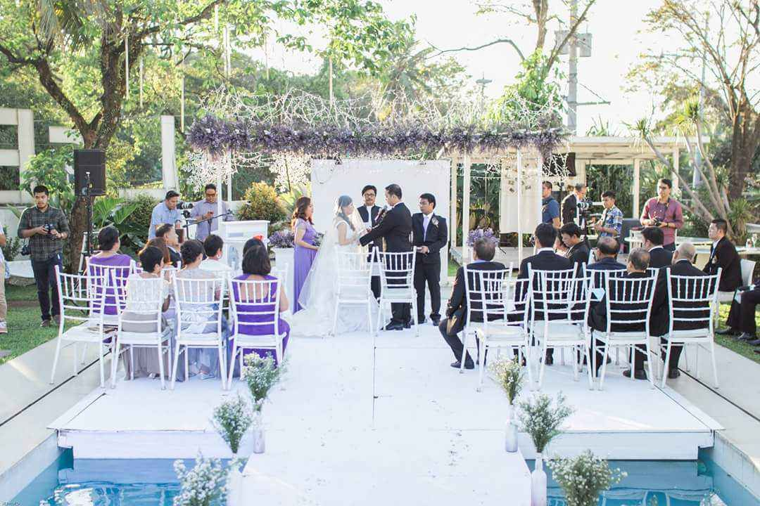 Wedding In The Charming Garden Near Pool Antipolo Philippines
