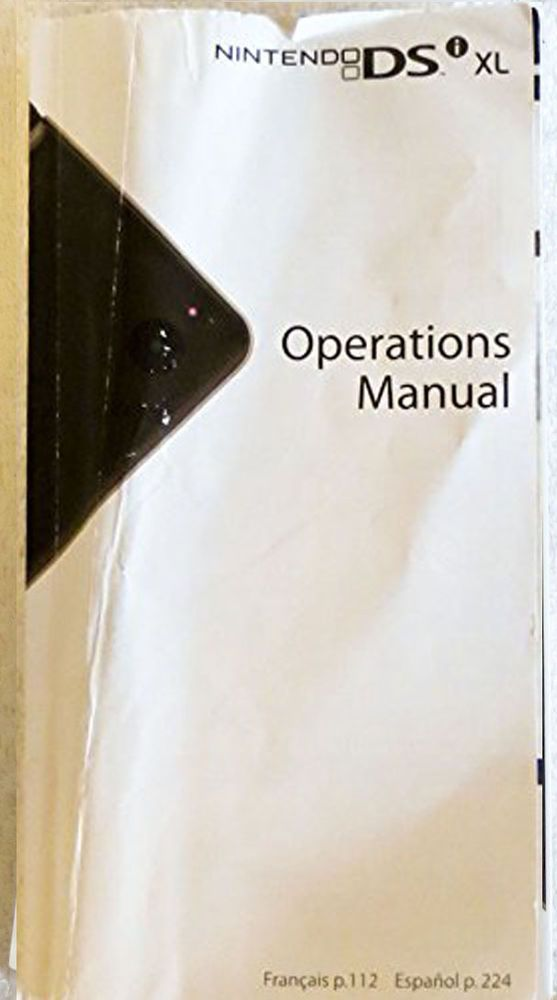 nintendo dsi xl operations manual instruction book nintendo rh pinterest co uk Nintendo Wii PlayStation Portable