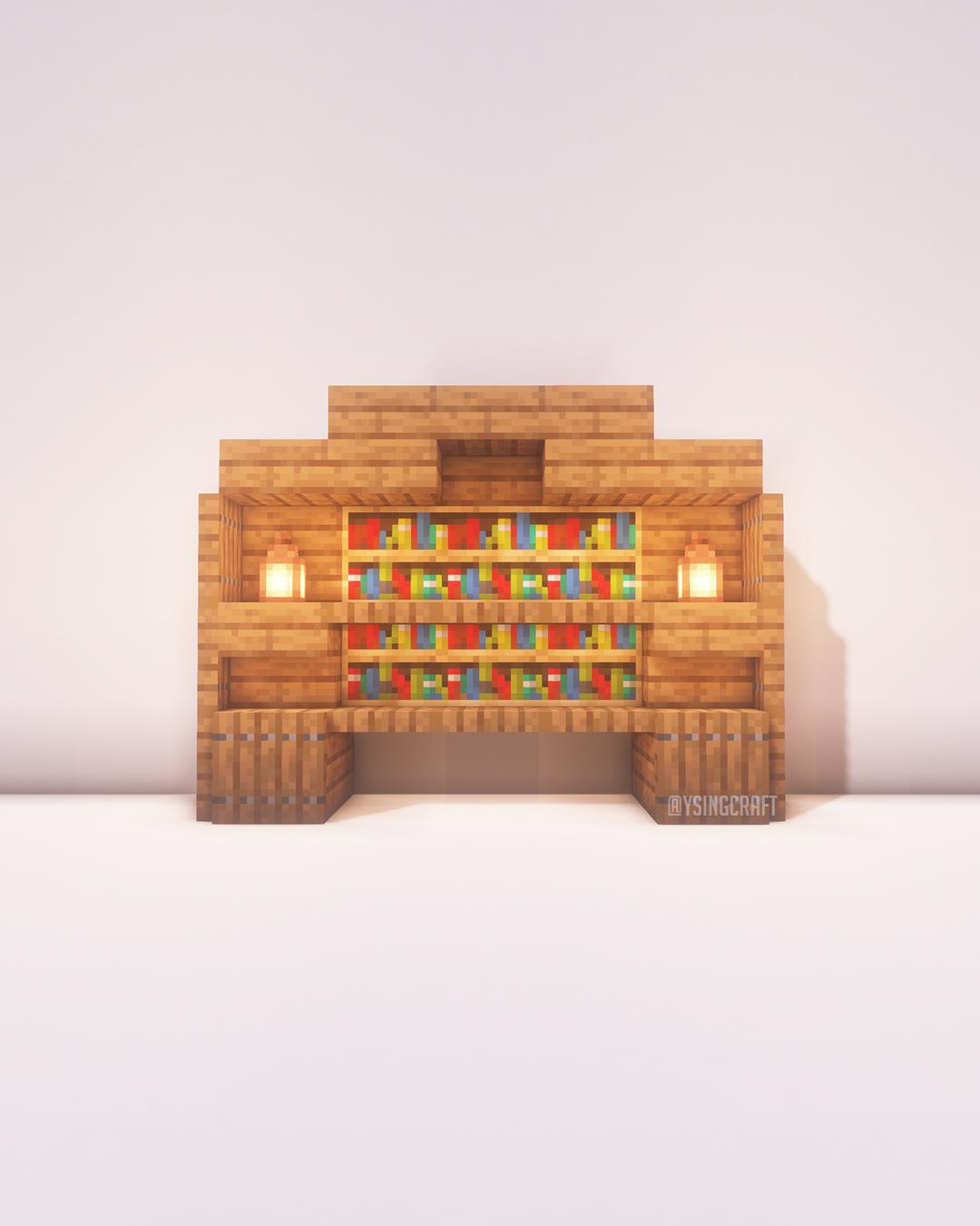 Minecraft Bookshelf Ideas 20   Концептуальное искусство, Искусство