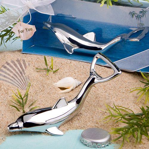 Dolphin Design bottle openers for Beach Wedding Favors!