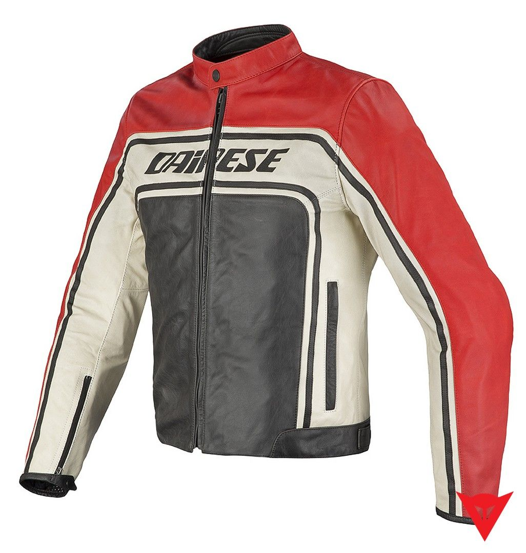 Dainese Leather Jacket Tourage Vintage Pelle Front Jaket Kulit