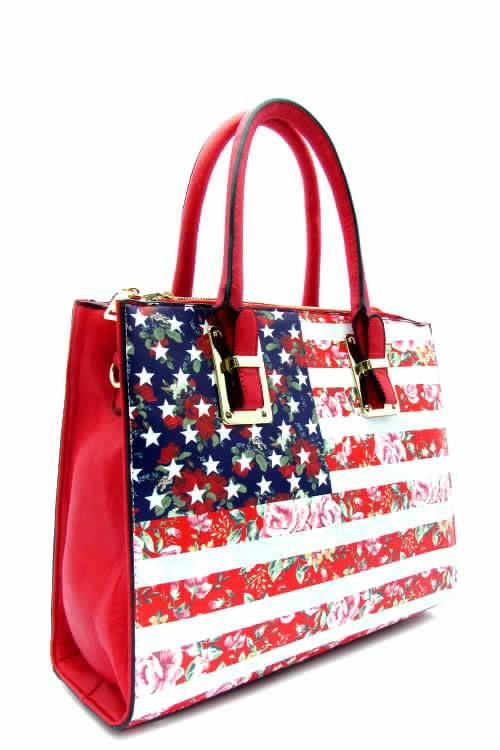 This tote is perfect for the 4th. Show your American pride with this bold stars and stripes bag!