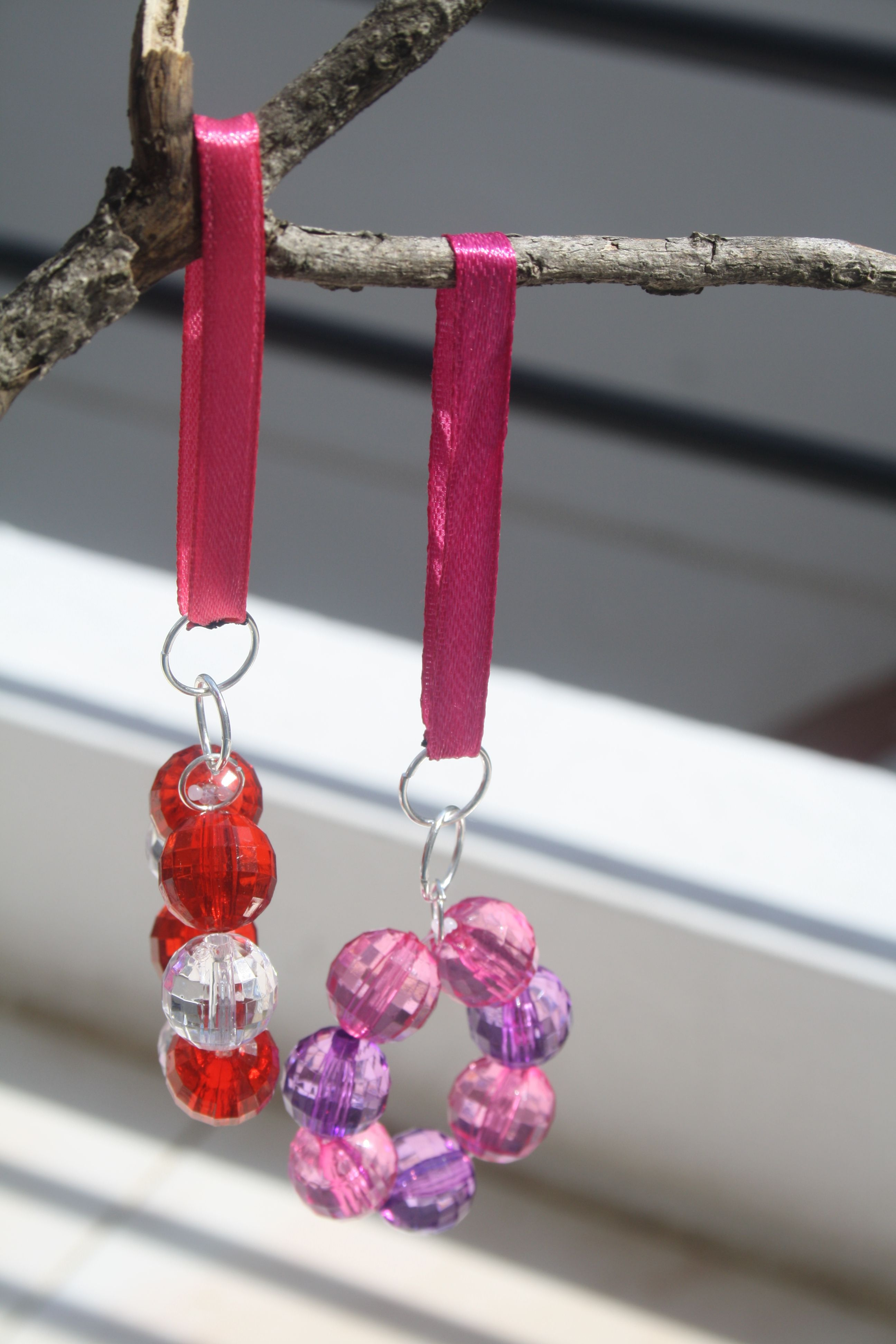 Little suncatchers - users crystals and satin ribbons