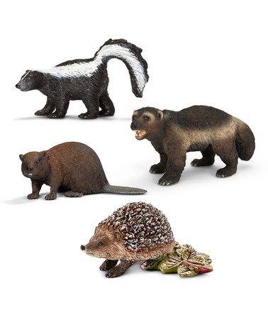 Love this American Forest Wildlife Figurine Set by Schleich on #zulily! #zulilyfinds