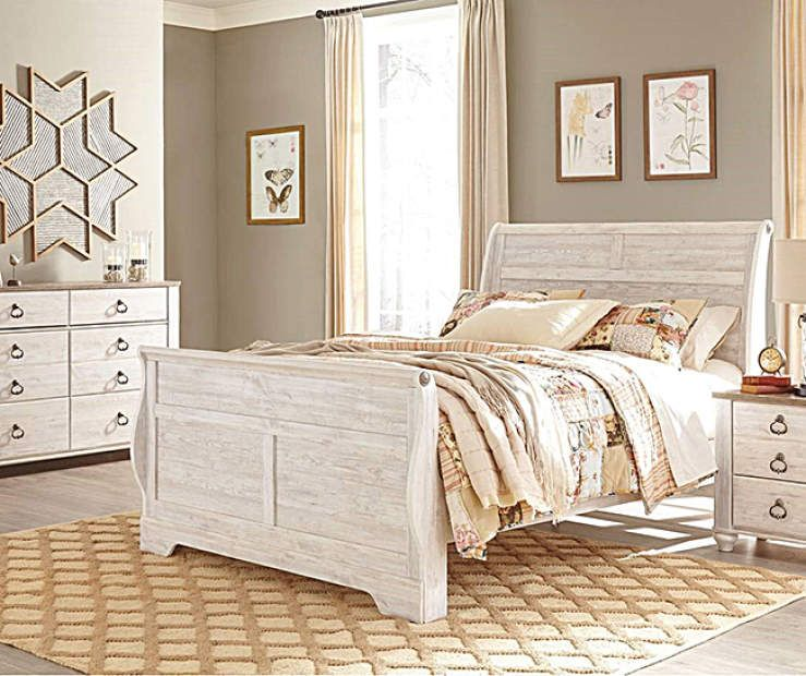 Signature Design By Ashley Willowton Queen Bedroom Collection At Big Lots Bedroom Sets Bedroom Collection Big Lots Furniture