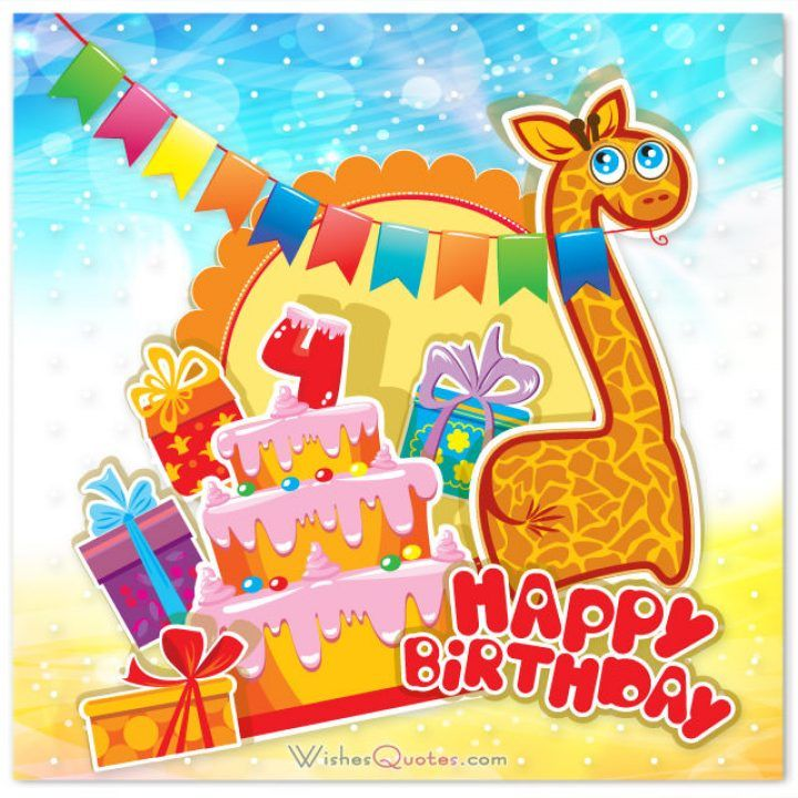 Browse Through Our Collection Of Cute Birthday Wishes To Find The Best Message For Your 4 Year Old Boy Or Girl