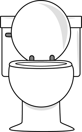 White Toilet With Lid Up Clip Art White Toilet With Lid Up Image