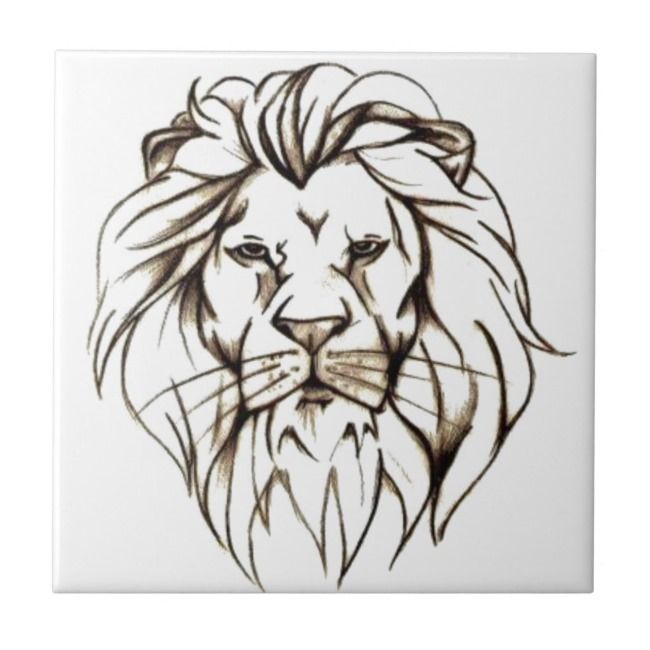 IMG_7779.PNG brave lion design Tile | Zazzle.com