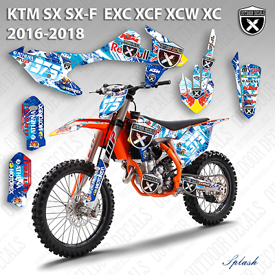 2011 2012 XC XC-F XCF 150 250 300 350 GRAPHICS KIT FITS KTM DECO DECALS STICKERS