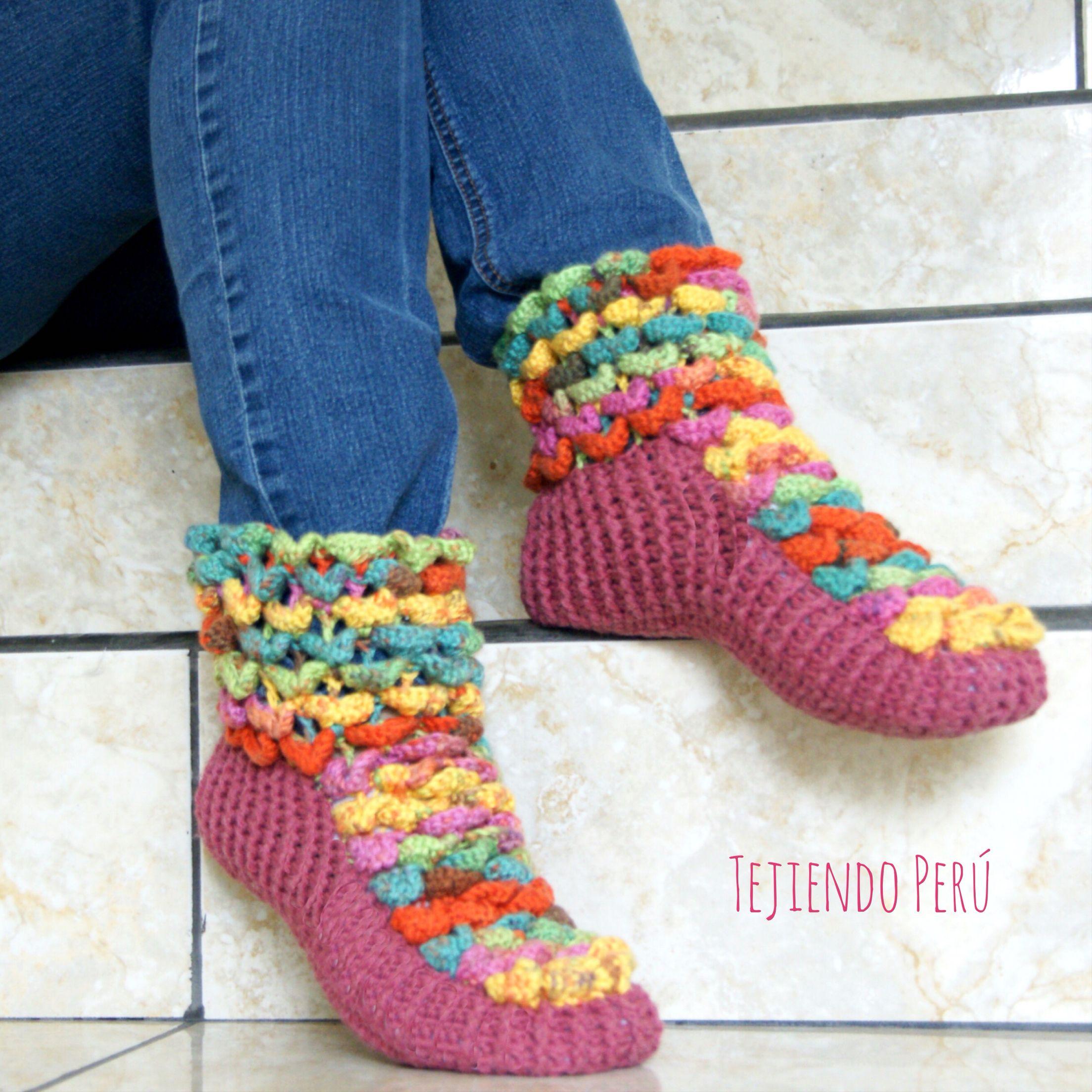 Crochet paso a paso: botas en punto cocodrilo! Vídeo tutorial ...