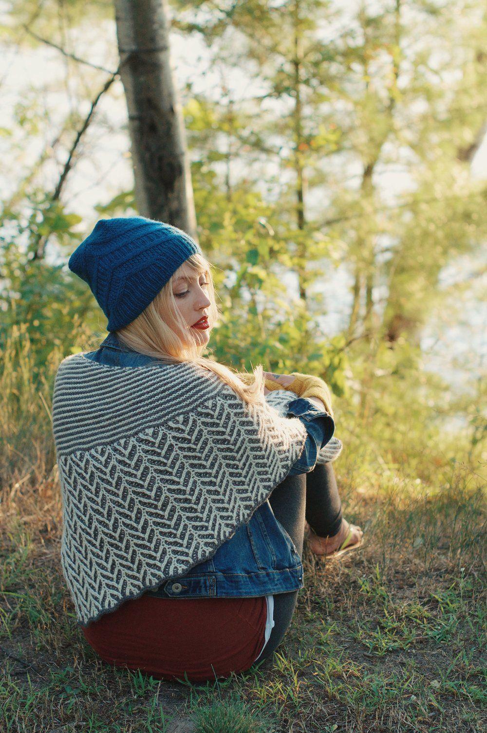 Ramble Shawl — Drea Renee Knits How to purl knit