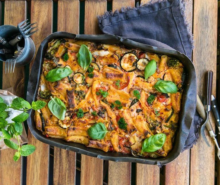 Vegetarisk Pastagratang Recept Vegetarisk Mat Recept Och God Mat