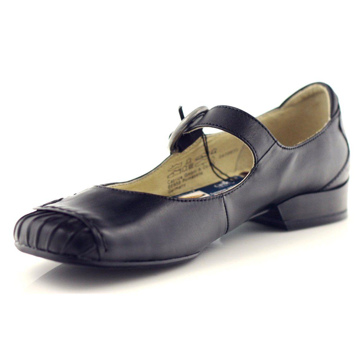 Polbuty Damskie Caprice Polbuty Na Pasek 24206 Czarne Caprice Shoes Dance Shoes Tap Shoes