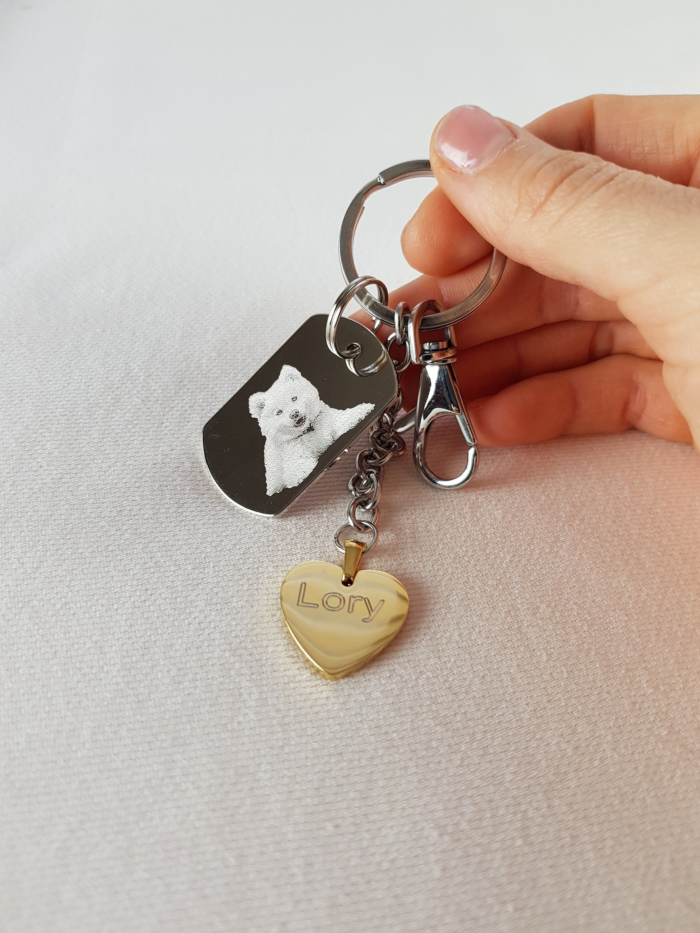 Personalized Pet Portrait Keychain Pet Lovers Gift Dog And Cat