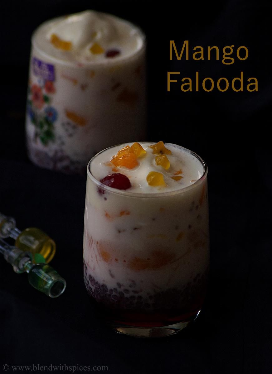 Mango falooda recipe an easy and quick indian layered