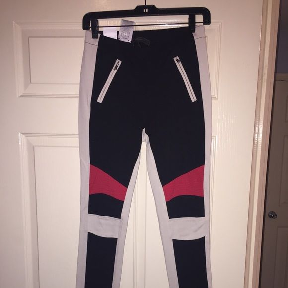 Brand New BCBG Leggings Brand New BCBG Leggings. Size Small. Colors are Ivory Red & Black. BCBG Pants Leggings