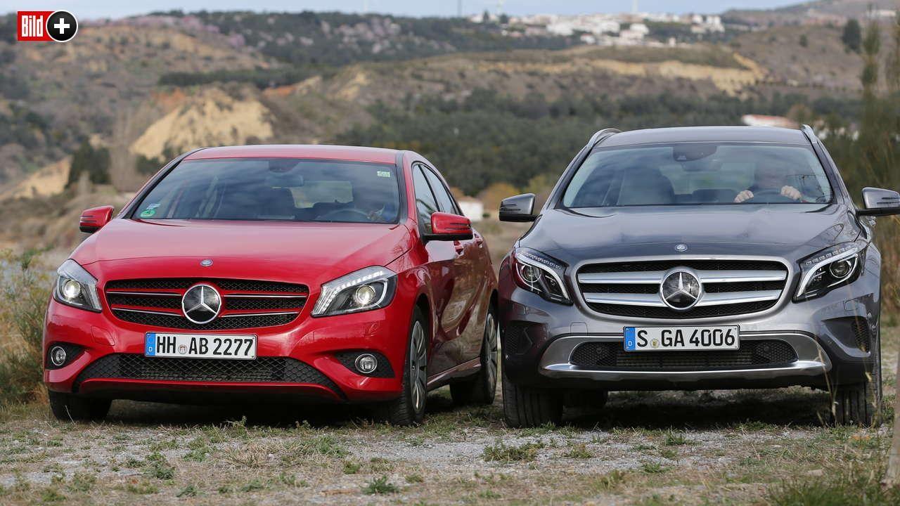 Mercedes A-Klasse gegen Mercedes GLA: Welcher kleine Benz ist besser?