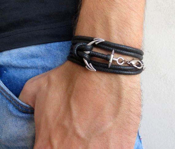 bracelet hommes ancrage bracelet des hommes des bracelets pour les hommes bijoux pour. Black Bedroom Furniture Sets. Home Design Ideas