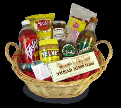 Michigan Iconic Snack Basket Sympathy Gift Baskets, Thank You Gift Baskets, Sympathy Gifts,