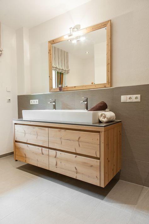Badm bel in fichte altholz design pinterest - Graues badezimmer ...